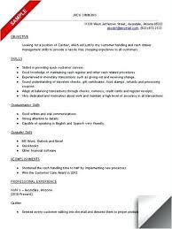 sample resume for cashier associate cashier duties and responsibilities resume u2013 foodcity me