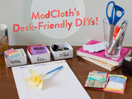 Diy Desk Decor Craft Some Cubicle Cuteness With 3 Desk Friendly Diys