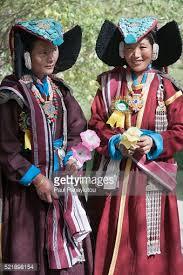 ladakh clothing women in traditional clothing at the ladakh festival leh india