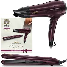 Hair Dryer And Straightener nicky clarke style hair dryer straightener womens gift set