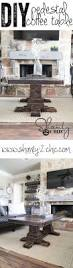 diy pedestal coffee table pedestal tutorials and coffee