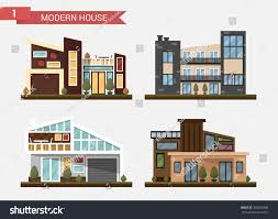 vector flat illustration traditional modern house stock vector