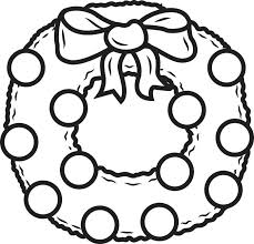 Coloring Pages For Kids Christmas Free Printable Wreath Coloring Coloring Pages For