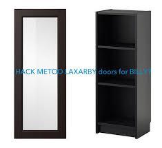 ikea bookcase with doors hackers help metod laxarby doors on billy bookcase ikea hackers
