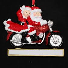 amazon com personalized motorcycle couple santa christmas holiday