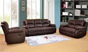 Leather Recliner Sofa 3 2 Valencia 3 2 Leather Recliner Sofa Suite Brown Ebay