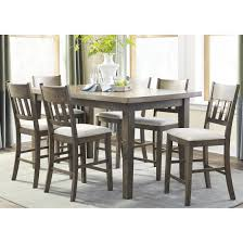 dining room counter height dining set with pub table and chairs