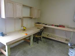 Plans For Building A Wood Workbench by Garage Garage Workbench Ideas To Complete And Finish All Your