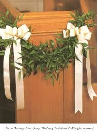 Pew Decorations For Weddings Pew Bows With Greenery Church Wedding Decorations Perfect For