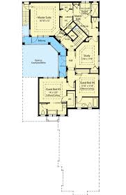 courtyard floor plans energy efficient courtyard house plan 33040zr architectural