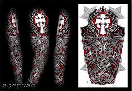 Celtic Cross Half - nathaniel celtic sleeve by shepush on deviantart tattoos