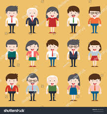 set diverse business people different dress stock vector 446173744