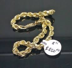 gold bracelet rope images 10k yellow gold men 39 s thick rope bracelet 8 inches mens ladies ebay jpg