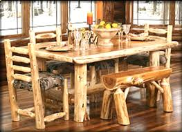 Hickory Dining Room Table by Log Dining Room Sets Moncler Factory Outlets Com