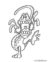 Creepy Halloween Coloring Pages by Monster Coloring Page Lizard Monster Coloring Pages Hellokids