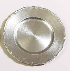 benzara 74179 lot 36 tuscany silver charger plates 13 dia at