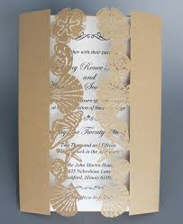 starfish wedding invitations wedding invitation with shell starfish gold birthday