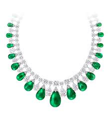 diamond emerald necklace images Emerald cabochon and diamond necklace graff png