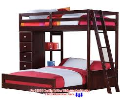 Plans For Twin Over Full Bunk Beds With Stairs by Twin Over Full L Shaped Bunk Beds Acadian House Plans