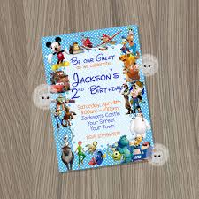 template free disney character birthday invitations cards with