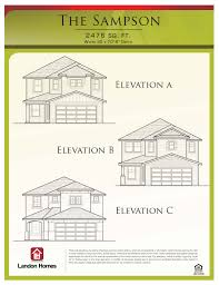 new house floor plans st augustine florida landon homes sampson at castine cove