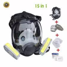 Masker Gas 15 dalam 1 baru masker gas penuh wajah masker respirator lukisan