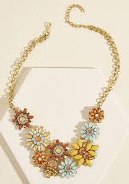 orange statement necklace images Going going garden statement necklace modcloth jpg
