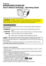 user manual for dukan 895x projectors