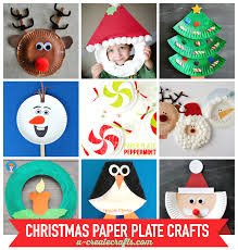 christmas art activities with paper plates chrismast cards ideas