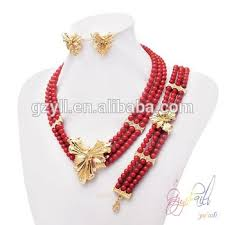 beads necklace sets images African beaded jewelry sets 18k coral beads necklace earrings jpg