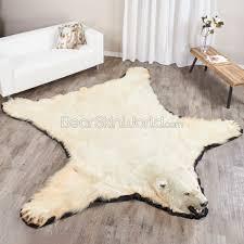 10 foot polar bear rug from canadian arctic