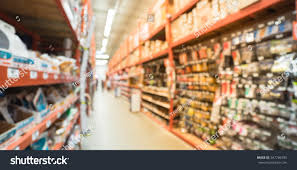 interior home improvement blurred large hardware store tools material stock photo 547796395