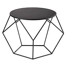 Outdoor Metal Side Table Ronde Salontafel Zwart Metaal Diameter 64 Prism Living