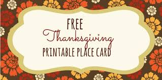 23 sets of free printable thanksgiving place cards