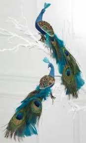 lovely things peacock wreath and ornaments at la redoute