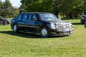driving the cadillac presidential limo from