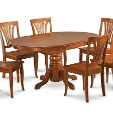 Oval Kitchen Table Sets by 5 Pc Dining Room Set For 4 Oval Dinette Table With Leaf And 4