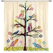 Owl Nursery Curtains Endearing Owl Curtains For Bedroom Ideas With Great Ba