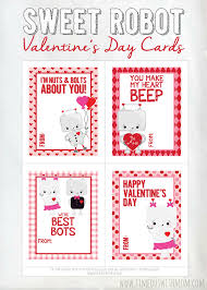s day cards for school sweet robot s day cards printable