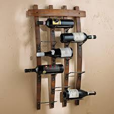9 bottle barrel stave wall wine rack vino grotto