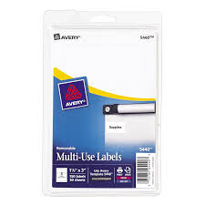 amazon com avery removable print or write labels 1 5 x 3 inches