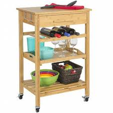 bamboo kitchen island clevr rolling bamboo kitchen island storage bakers cart wine rack