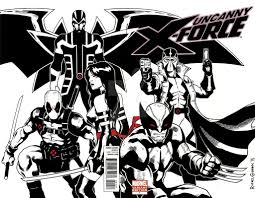 Uncanny Uncanny X Force Blank Cover Sketch By Gumbocrafael On Deviantart