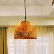 upgradelights wicker rattan swag lamp lighting fixture hanging