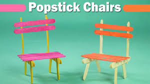 popsicle stick crafts for kids easy icecream sticks chair youtube