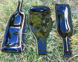 flattened wine bottle platter melted wine bottle glass serving dish cool things
