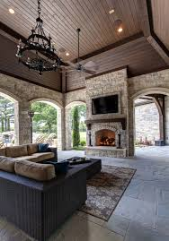 Outdoor Livingroom A French Chateaux Style Dream Home In Southlake Texas