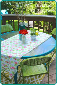 Glass Top Patio Table Parts by Hand Me Down Table Makeover Diy Spray Painted Patio Table Painted