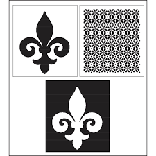 Fleur De Lis Wall Stickers Folkart Home Decor Layering Stencils Fleur De Lis 34943