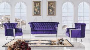 american eagle ae592 purple sofa loveseat and chair set fabric